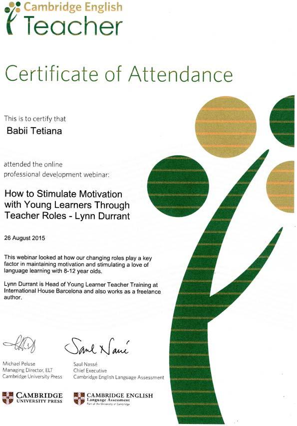 (RU) Cambridge English Webinars for Teachers Certificate