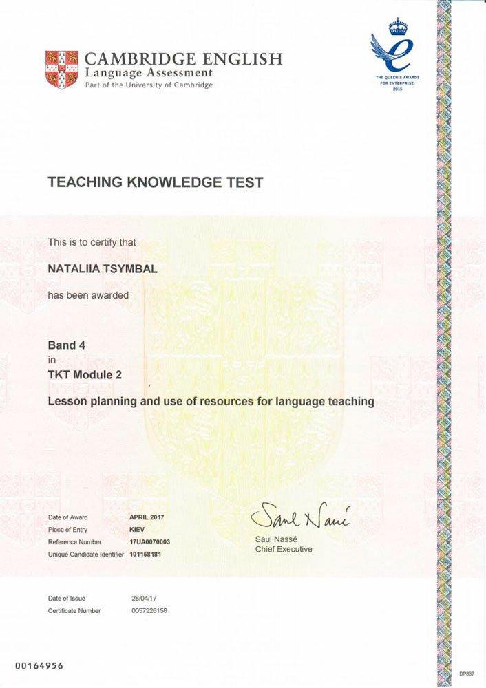 Teaching Knowledge Test (TKT) Module 2