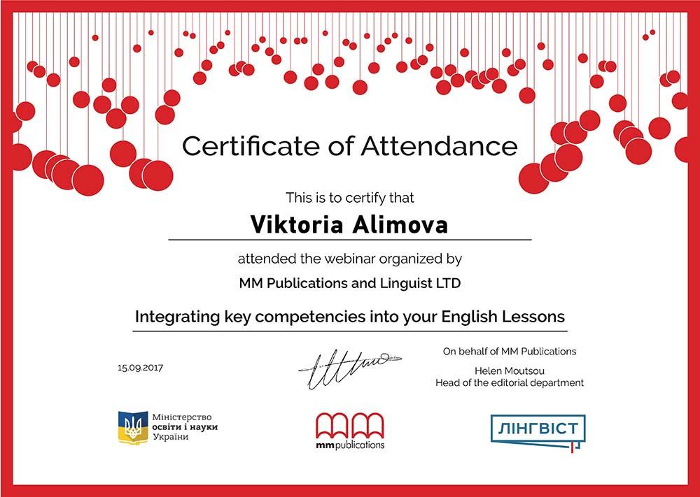 MM Publications and Linguist LTD Webinar Certificate