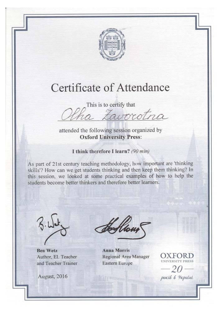 Oxford Professional Development Webinar