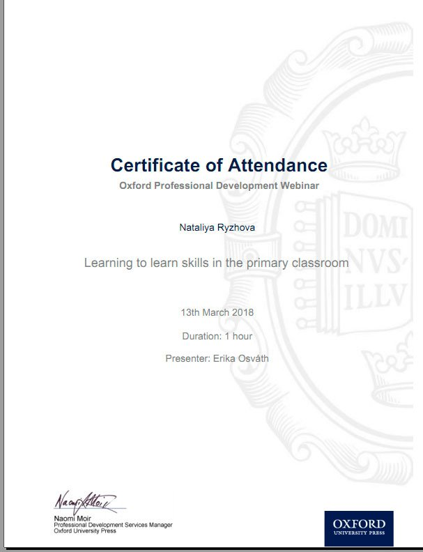 Oxford Professional Development Certificate