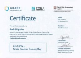 pigarev sova teacher training day feedback empowers