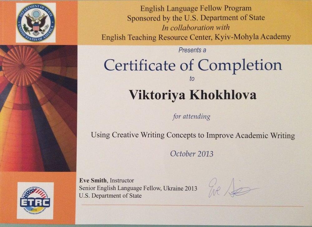 creative writing khokhlova