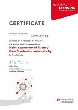 borysova gamification for automaticity